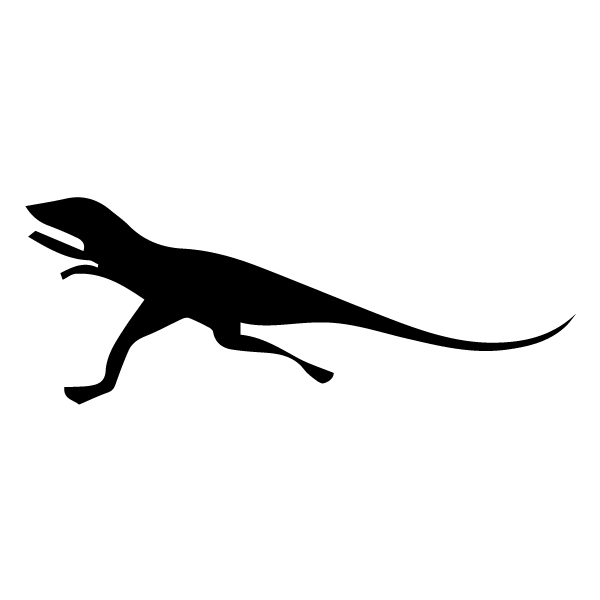 Dinosaur Silhouette 2A LAK 26-E Dinosaur Wall Decal