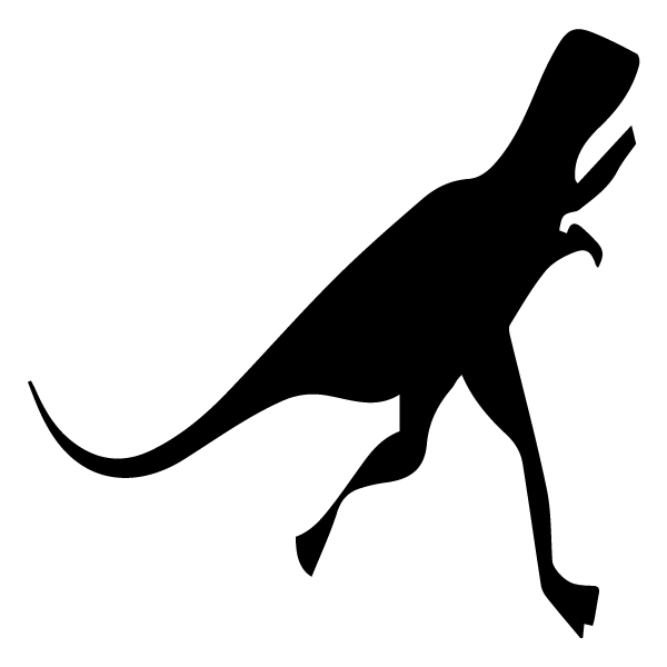 Dinosaur Silhouette 3A LAK 26-G Dinosaur Wall Decal