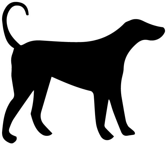Dog Silhouette A LAK 14 P Animal Wall Decal