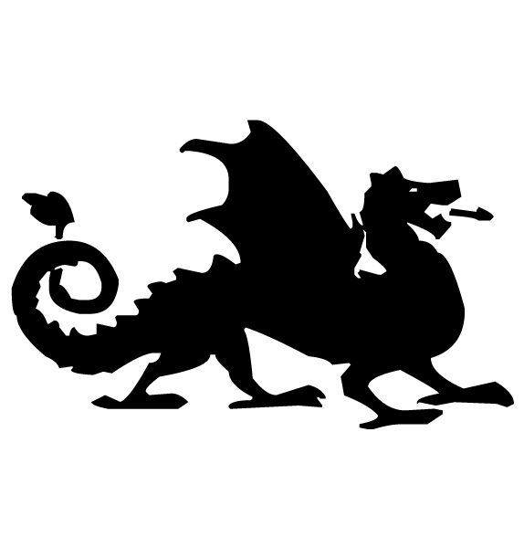 Dragon Lettering Art 4-3 Wall Decal