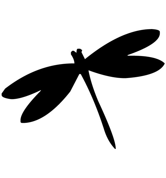Dragonfly Lettering Art 4-e Wall Decal