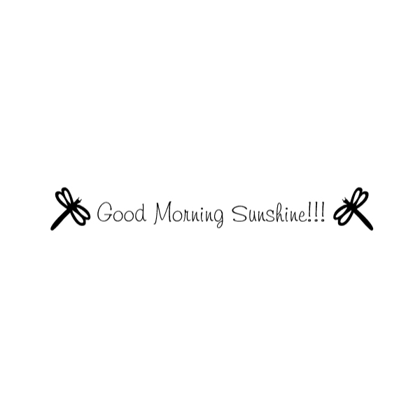Good morning sunshine!!! Wall Decal