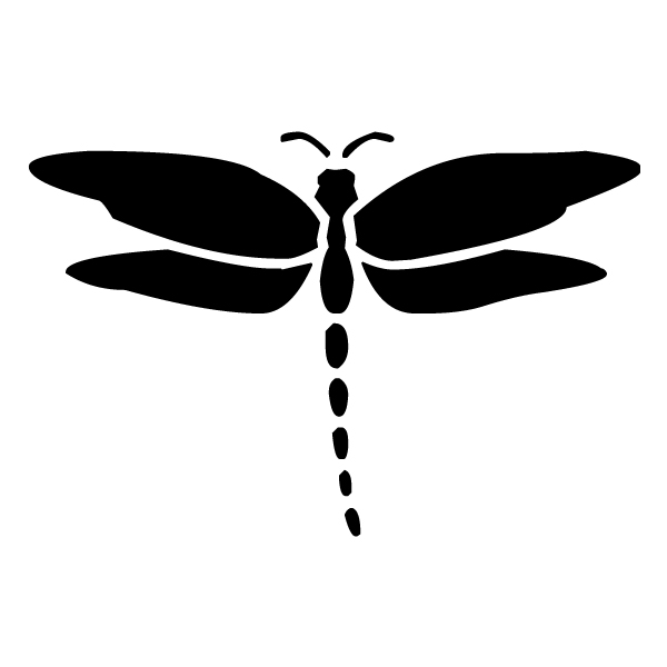 Dragonfly Silhouette 3A LAK 18-4 Dragonfly Wall Decal