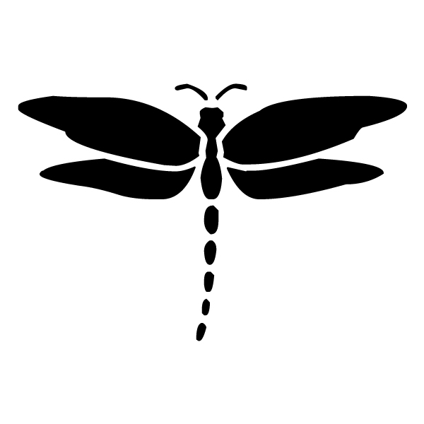 Dragonfly Silhouette 3B LAK 18-8 Dragonfly Wall Decal