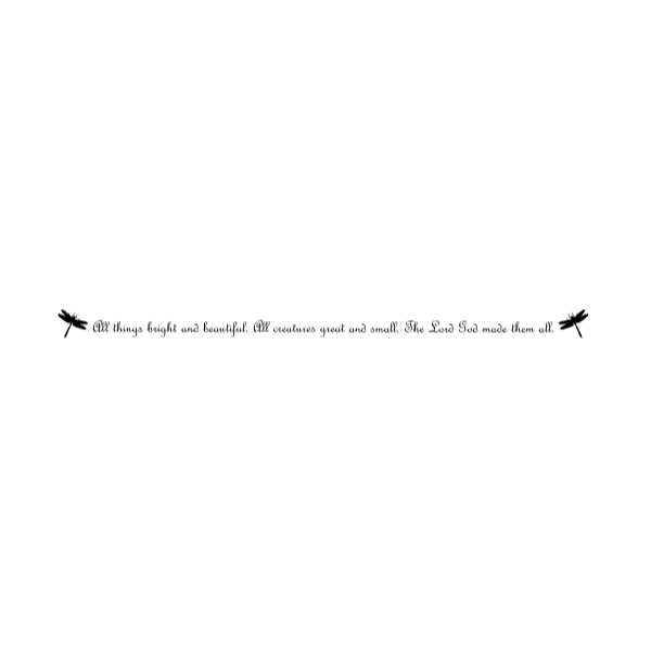 Dragonfly Silhouette 4A LAK 18-5 Dragonfly Wall Decal
