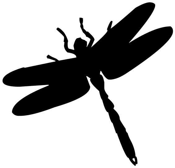 Dragonfly Silhouette 4B LAK 18-6 Dragonfly Wall Decal