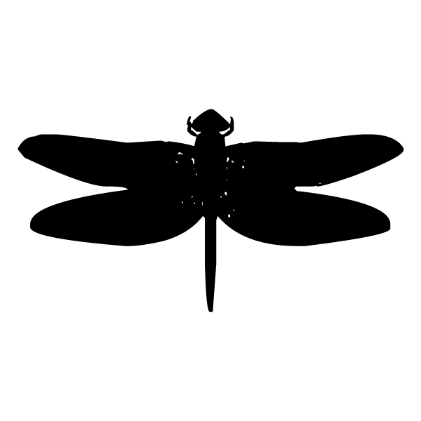 Dragonfly Silhouette 5 LAK 18-7 Dragonfly Wall Decal
