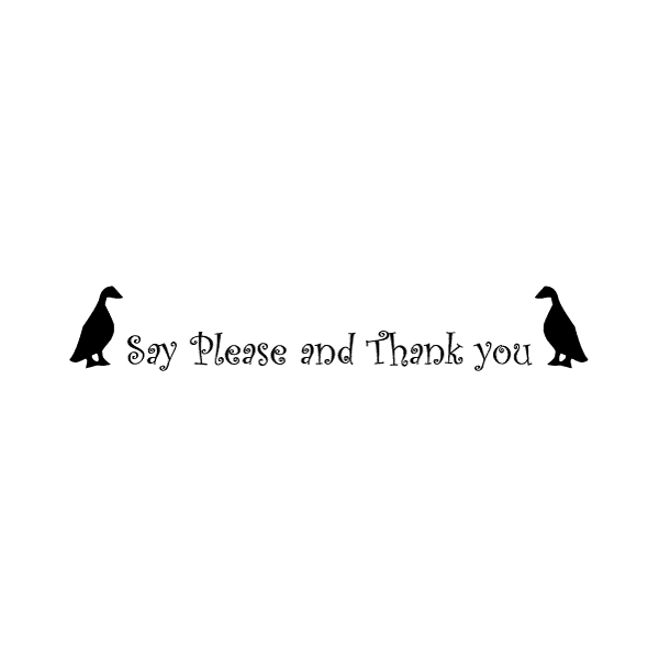 Say Please and Wall Decal