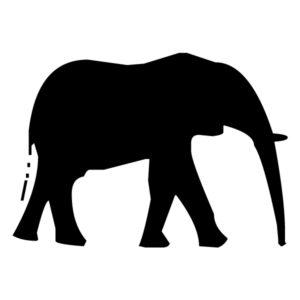 Elephant Silhouette 1A LAK 15-2 Jungle Wall Decal