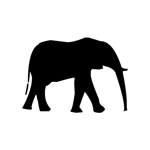 Elephant Silhouette A LAK 14 0 Animal Wall Decal