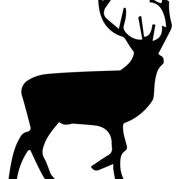 Elk Silhouette A LAK 14 J Animal Wall Decal