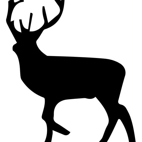 Elk Silhouette B LAK 14 K Animal Wall Decal