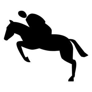 Equestrian Silhouette B LAK 10-5 Horse Wall Decal