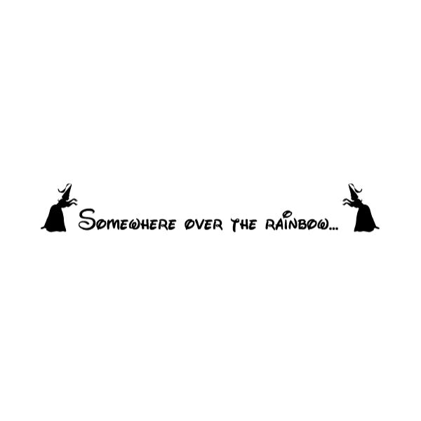 Somewhere over the Wall Decal