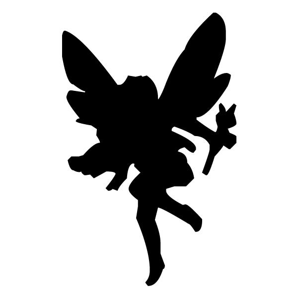 Fairy Silhouette 1B LAK 20-1 Fairy Wall Decal