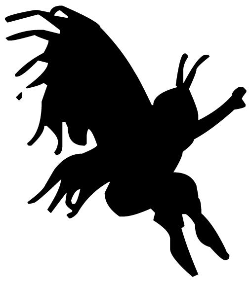 Fairy Silhouette 3A LAK 20-4 Fairy Wall Decal
