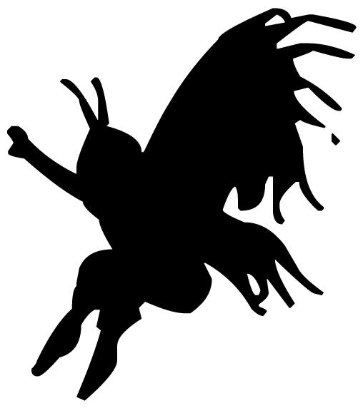 Fairy Silhouette 3B LAK 20-5 Fairy Wall Decal