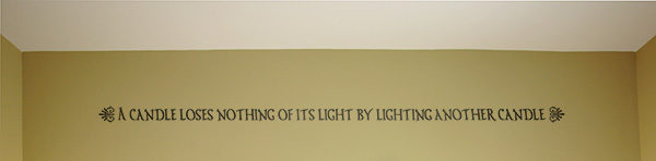 A Candle loses nothing of its Wall Decal