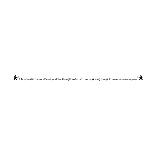A Boy's Will is the Who's Will Wall Decal
