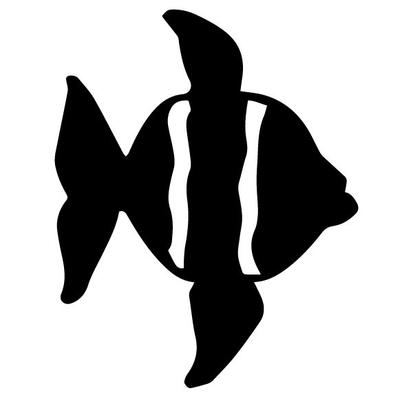 Fish Lettering Art 5 K Wall Decal