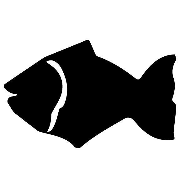 Fish Lettering Art 5 L Wall Decal