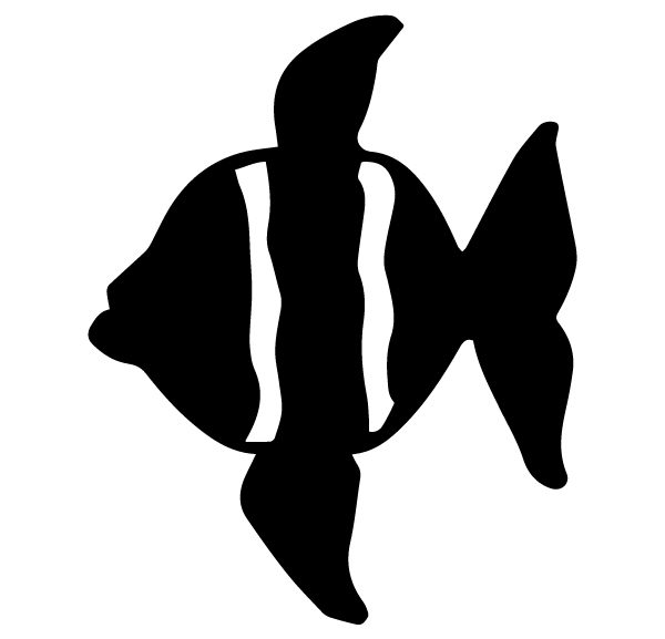 Fish Lettering Art 5 q Wall Decal