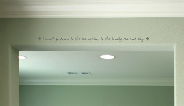 I must go down to the sea again Wall Decal