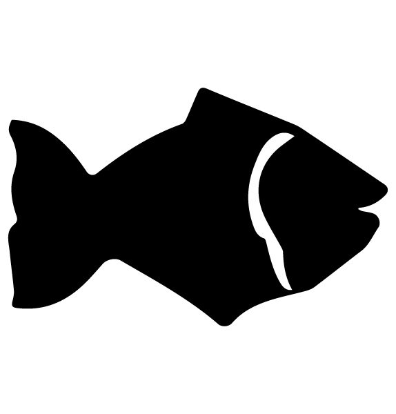 Fish Lettering Art 5 r Wall Decal
