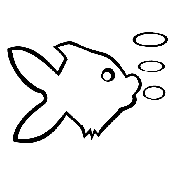 Fish Outline A LAK 1-7 Nautical Wall Decal