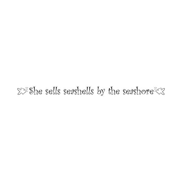 She sells seashells by the seashore Wall Decal