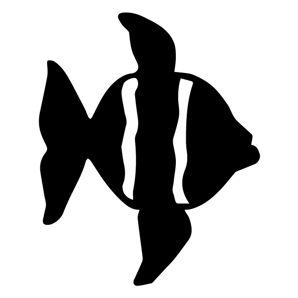 Fish Silhouette 1A LAK 1-E Nautical Wall Decal