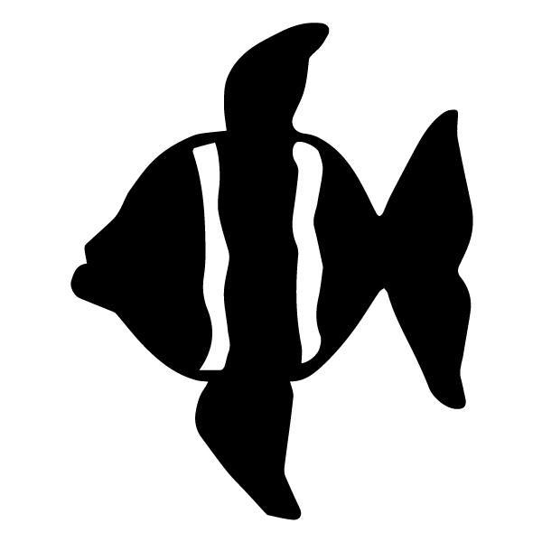 Fish Silhouette 1B LAK 1-F Nautical Wall Decal