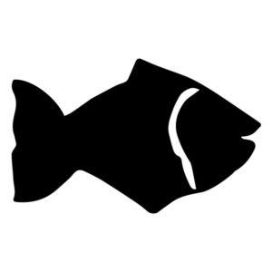 Fish Silhouette 2A LAK 1-G Nautical Wall Decal