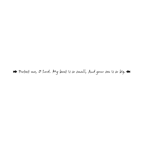 Protect me, O Lord. My boat is so small Wall Decal