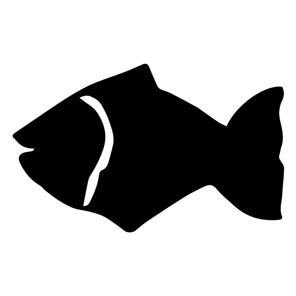 Fish Silhouette 2B LAK 1-H Nautical Wall Decal