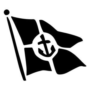 Flag Silhouette A LAK 1-L Nautical Wall Decal