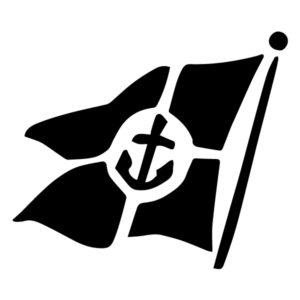 Flag Silhouette B LAK 1-Q Nautical Wall Decal