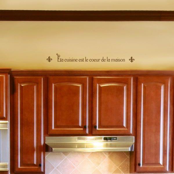La cuisine est le coeur de la maison. Wall Decal