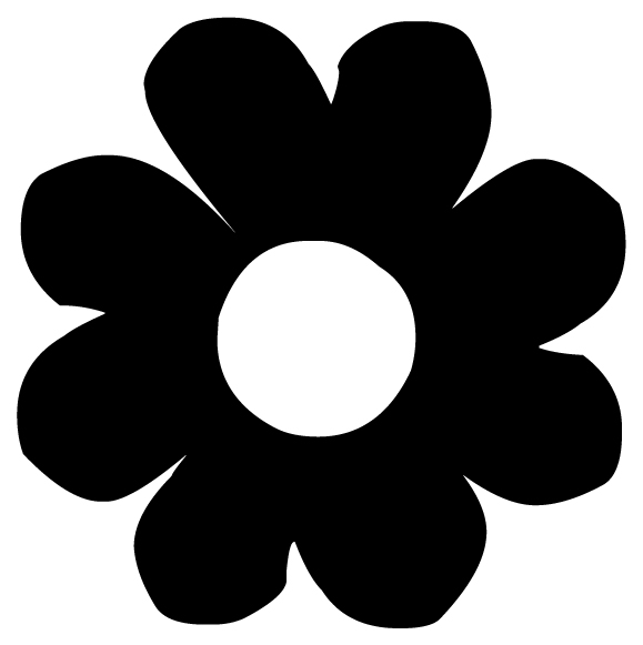 Flower Lettering Art 2-6 Wall Decal
