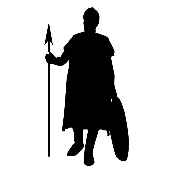 Foot Soldier 2A LAK 13-9 Prince Princess Camelot Wall Decal