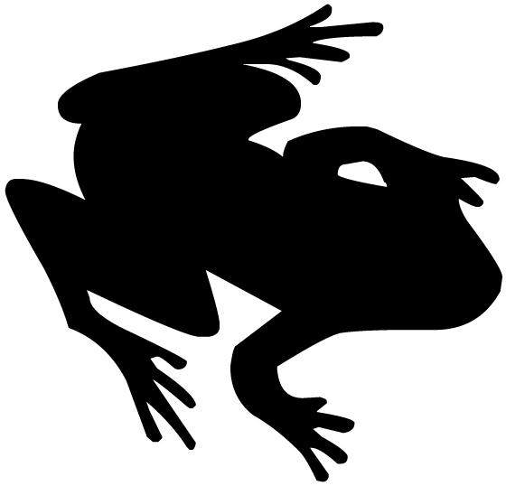 Frog Silhouette A LAK 14 k Animal Wall Decal