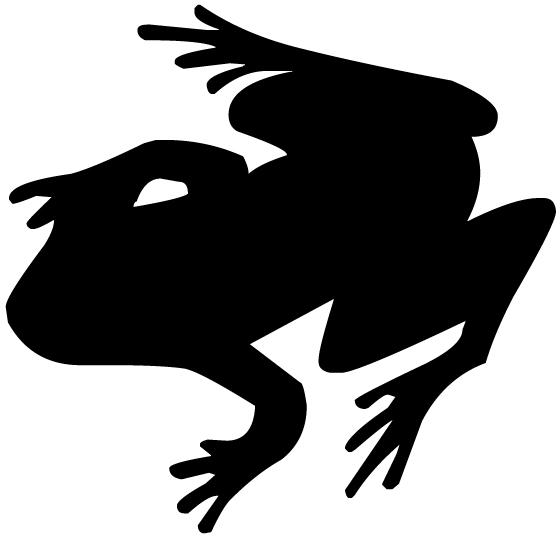Frog Silhouette B LAK 14 l Animal Wall Decal