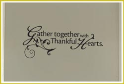 Gather Together With Thankful Hearts