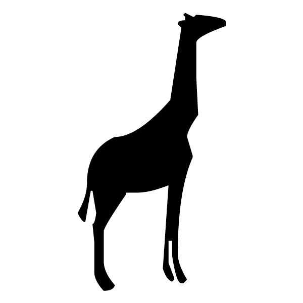 Giraffe Silhouette 1A LAK 15-6 Jungle Wall Decal