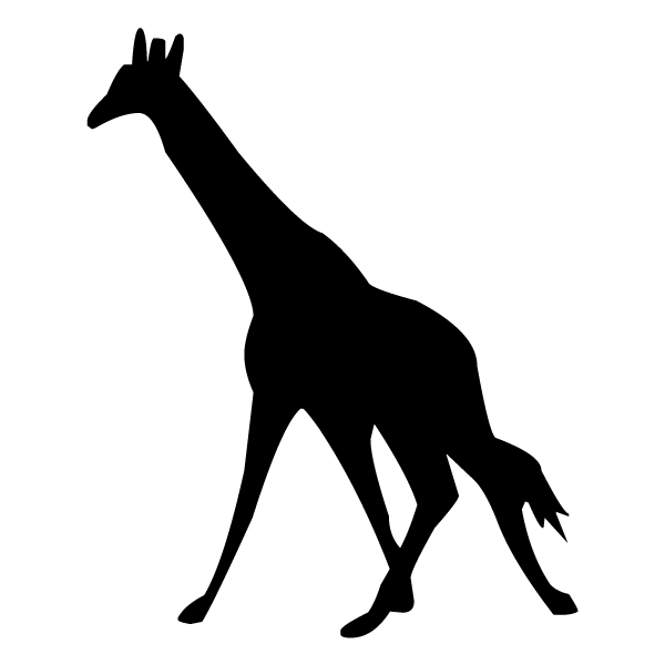 Giraffe Silhouette 2B LAK 15-9 Jungle Wall Decal