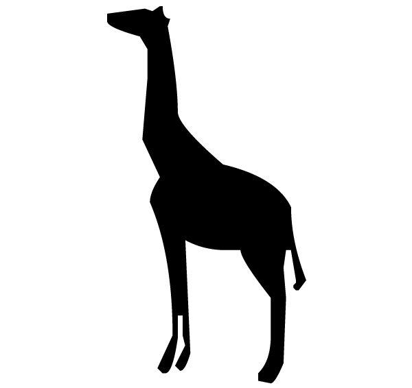 Giraffe Silhouette B LAK 14 A Animal Wall Decal