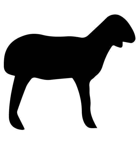 Goat Silhouette A LAK 14 X Animal Wall Decal