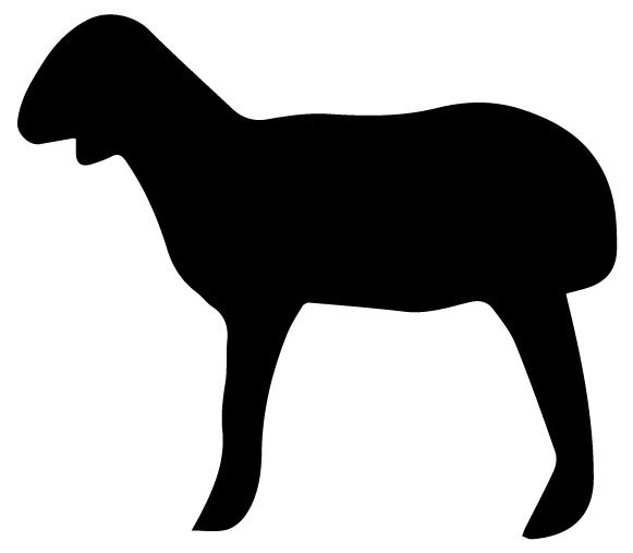 Goat Silhouette B LAK 14 Y Animal Wall Decal