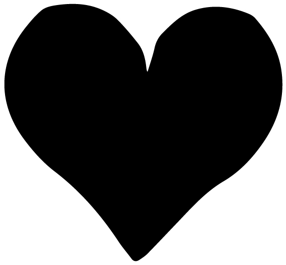 Heart Themed Motif Lettering Art 6-P Wall Decal