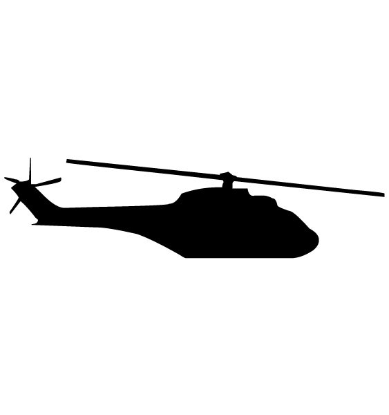 Helicopter Silhouette A LAK 16 8 Aviation Wall Decal